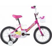 Детский велосипед Novatrack Twist 16 (2020) с корзиной