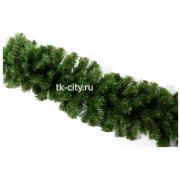 Гирлянда хвойная Crystal Trees зеленая L270/d28 арт. KP2028