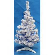 MOROZCO Ель Декоративная белая с синими звездами 0.5 м