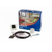 Нагревательный мат DEVI DEVIdry Pro Kit: DEVIreg™ Touch (белый) + датчик + соединит.кабель 3 м.,10А + ключ для разъемов + алюм.клейкая лента