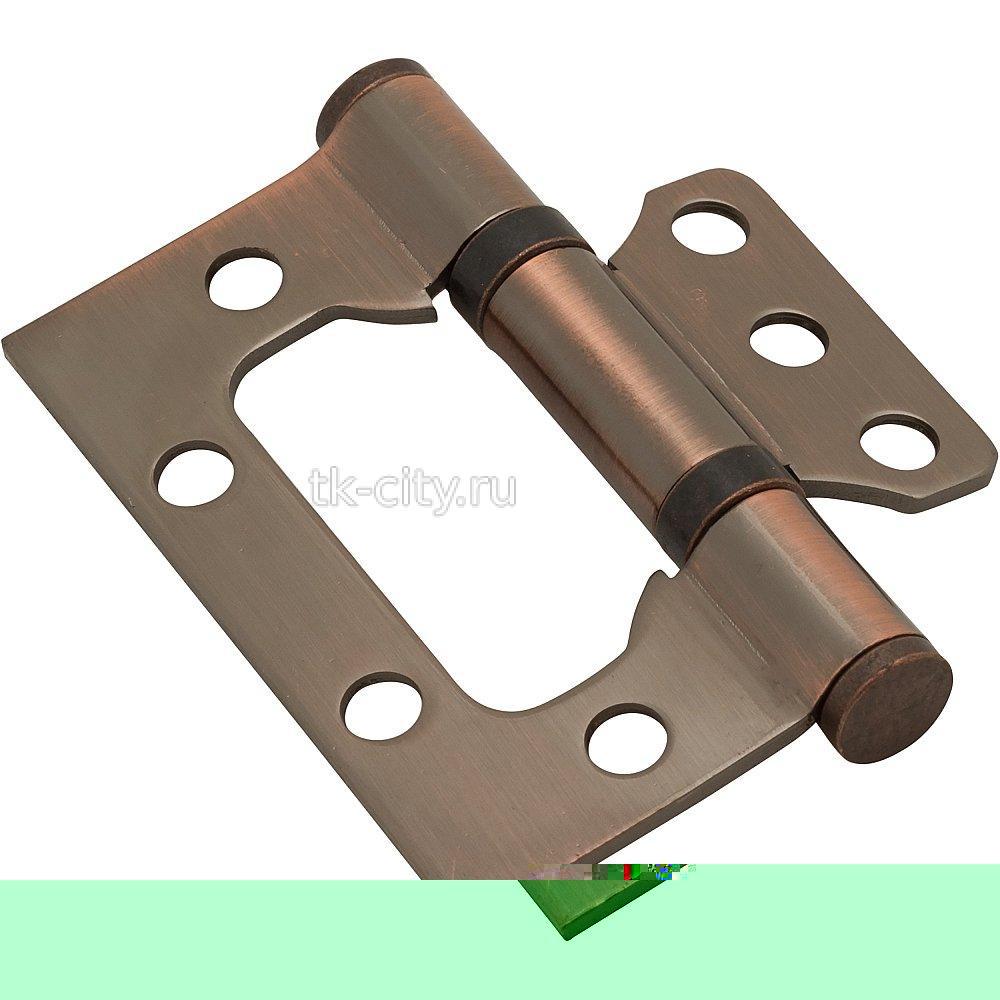для складных дверей - Петля без врезки стальная 2ВВ 75*63*2,5 AC Медь