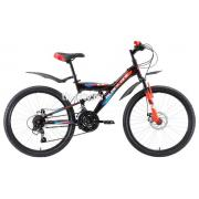 Подростковый горный (MTB) велосипед Black One Ice FS 24 (2018)