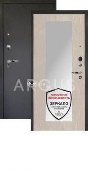 Входная металлическая дверь Аргус 1Люкс Про Милли ларче светлый/Чёрный шёлк