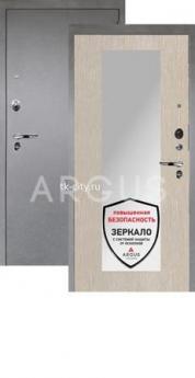 Входная металлическая дверь Аргус 1Люкс Про Милли ларче светлый/Серебро антик