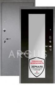 Входная металлическая дверь Аргус 1Люкс Про Милли венге/Серебро антик