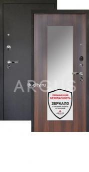 Входная металлическая дверь Аргус Люкс Про Милли коньяк калифорния/Чёрный шёлк