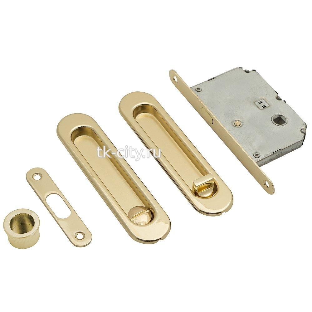 для складных дверей - Замок Купе Bravo SL-2 G Золото